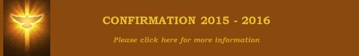 Confirmation 2015 - 2016